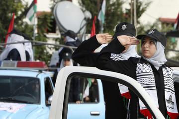 Hamas policewomen take part in graduation ceremony in Gaza