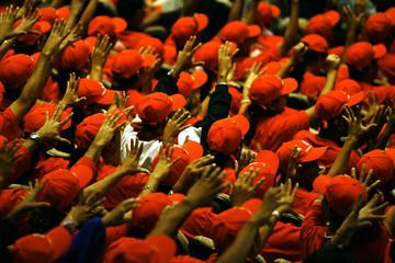 Venezuelan President Chavez's supporters attend event in Caracas