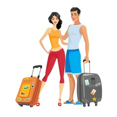 Couple to go on vacation