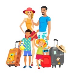The family is going on vacation