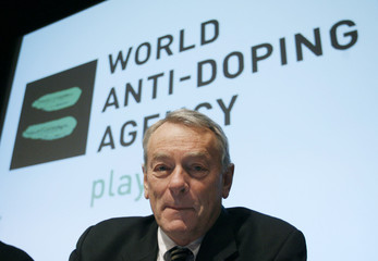 Pound, President of World Anti-Doping Agency (WADA) poses before the WADA Media Symposium at the Olympic Museum in Lausanne