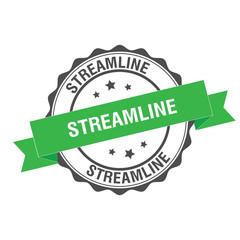 Streamline stamp illustration