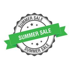 Summer sale stamp illustration