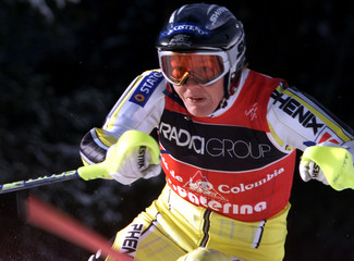 NORWAY'S TRINE BAKKE IN ACTION DURING THE WOMEN'S SKI WORLD CUP SLALOM IN S. CATERINA.