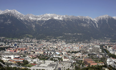 A general view shows the city of Innsbruck
