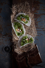 Fresh Vegetable Rice Wraps.