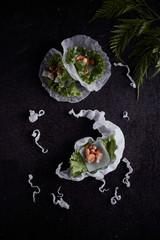 Fresh Vegetable Rice Wraps.