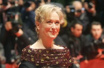 U S actress Meryl Streep arrives for screening at the Berlinale International Film Festival in Berlin