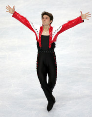 French Joubert performs his free men's program during the Bompard Trophy event at Bercy in Paris