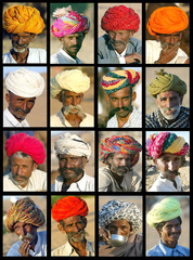 - COMBO PHOTO - A combo picture shows portraits of Rajasthani nomads during the annual camel bazaar ..