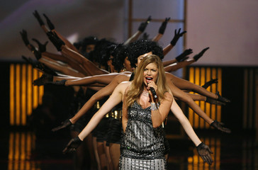 Singer Fergie performs during the 2007 Fashion Rocks Concert at Radio City Music Hall in New York