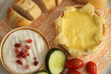 Camembert gebacken