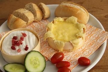 Käse auf Platte