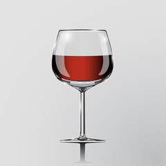 Realistic vector illustration of a cognac glass.
