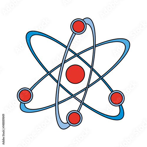 Color graphic atom structure icon vector illustration stock image color graphic atom structure icon vector illustration ccuart Images