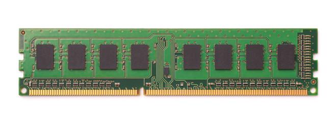 Top view of computer RAM module