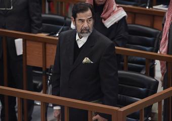 Saddam Hussein attends trial in Baghdad