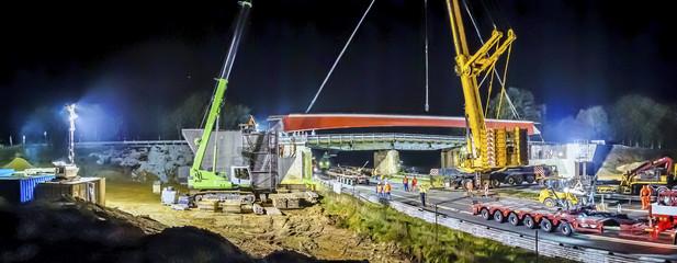 Brückenbau Autobahn 2