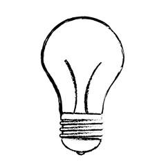 bulb light icon over white background. vector illustration