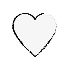 heart icon over white backgorund. vector illustration