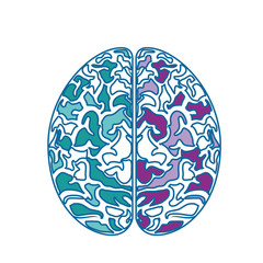 Human brain icon over white background. colorful design. vector illustration