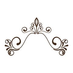 decorative vintage ornament icon over white background. vector illustration