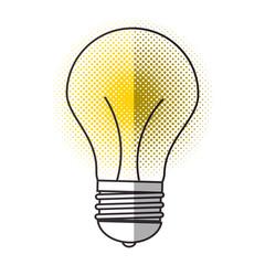 bulb light icon over white background. colorful design. vector illustration
