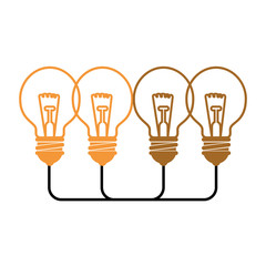 bulb lights icon over white background. colorful design. vector illustration