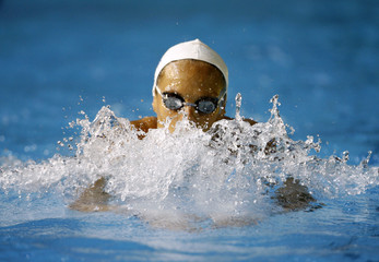 Manaudou of France swims during a training session at the World Aquatics Championships in Melbourne