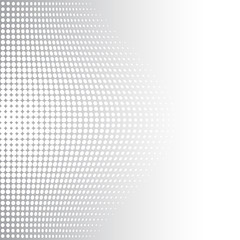 Grey and white halftone background