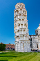Piazza del Duomo with Leaning Tower in Pisa