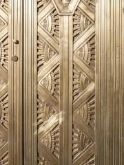Decorative golden door.