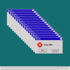retro computer error
