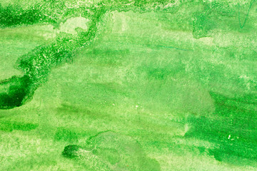 green watercolor painted background