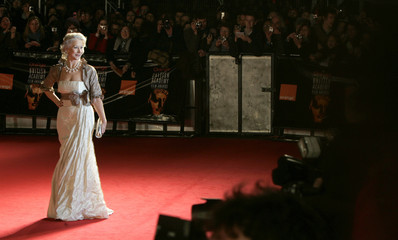 Actress Mirren arrives for the BAFTA awards in London