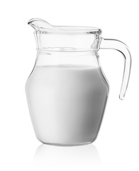 Milk in a glass jug