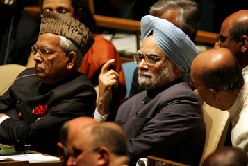 Indian Prime Minister attends 2005 World Summit in New York.