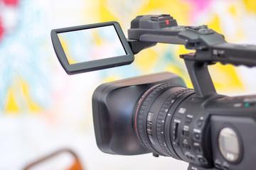 Profi Filmkamera, Dreharbeiten, Liveberichterstattung