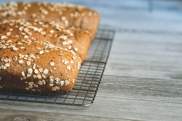 Homemade Whole Grain Honey Wheat Bread