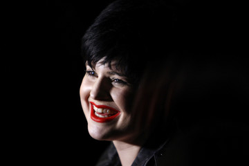 Actress Osbourne smiles before Vivienne Westwood's Autumn/Winter 2008 show at London Fashion Week