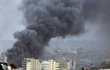 Smoke rises during Israel's offensive in Gaza