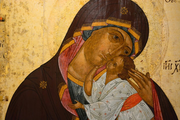 Antique Russian orthodox icon Wall mural