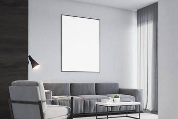 Living room, poster, black, side