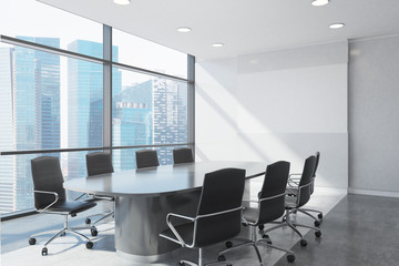 Panoramic meeting room close up