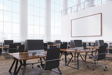 Open office with whiteboard