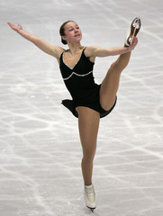 Meissner of the U.S. performs at the women's short program of the World Figure Skating Championships in Tokyo