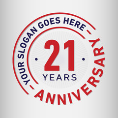 21 years anniversary logo template. Vector and illustration.