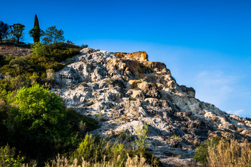 Les thermes Bagno Vignoni de San Quirico d'Orcia en Toscane