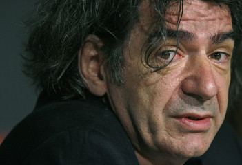 """Cast member Miki Manojlovic attends a news conference for Kusturica film """"Promise Me This"""" at Cannes Film Festival"""