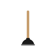 Rubber plunger on white background , vector